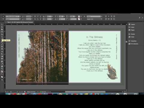InDesign arrow and text tools