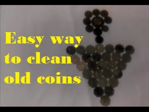 Easy way to clean old coin