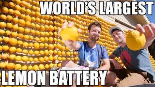World's Largest Lemon Battery- Lemon powered Supercar