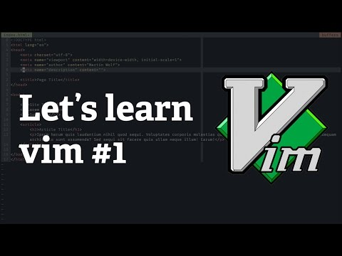 Screencast #19: Let's learn vim #1 - The three vim modes & moving the cursor