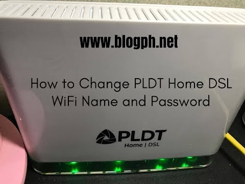 How to Change PLDT Home DSL WiFi Name and Password