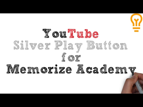 YouTube Silver Play Button for Memorize Academy!