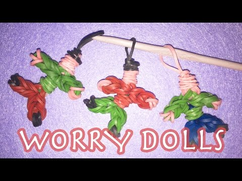 RAINBOW LOOM BANDS Worry Doll Charms | LOOMLESS