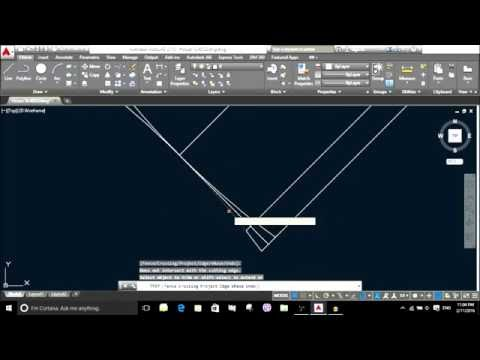 How to Draw in AUTOCAD 2015 gate in angle by using Polyline line circle