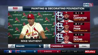 """Mike Matheny on Paul DeJong: """"He just continues to impress us every day"""""""