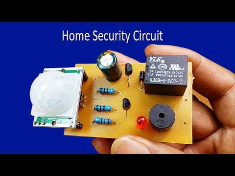 How to make easy home security circuit at home