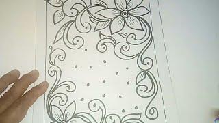 Cara Menggambar Batik Motif Bunga 30