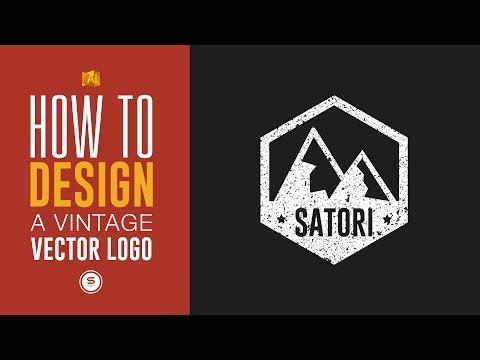 How To Design A Vintage Logo Design With Illustrator - Grunge Effect Illustrator Tutorial