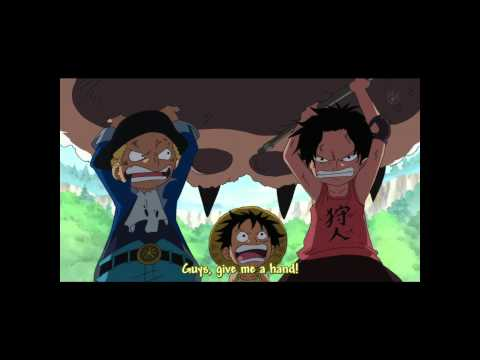 Ace Sabo Luffy,, fight with the king of tiger