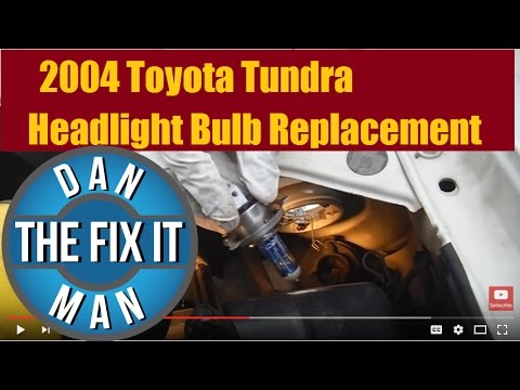2000-2006 Toyota Tundra Headlight Bulb Replacement