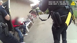 Bodycam Footage of Police Shootout With Armed Suspect in Pasadena, California