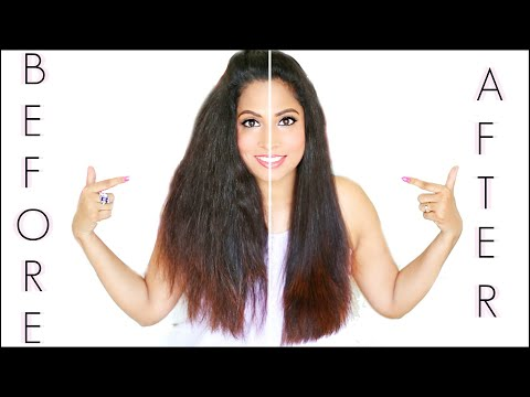 How to straighten my hair at home perfectly in 5 minutes | ShrutiArjunAnand