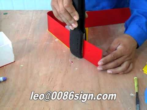 how to make LED channel letter-acrylic ligting logo maker-acrylic bender-acrylic bending tool