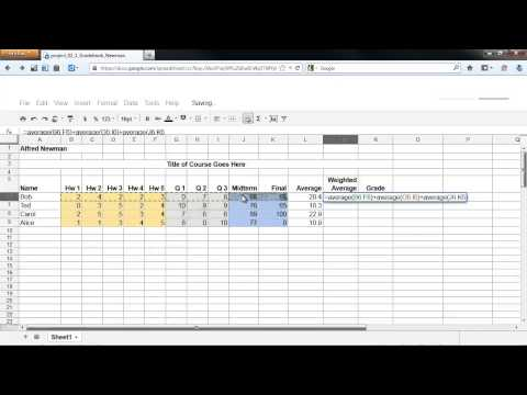 Video Google Gradebook Weighted Average