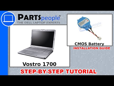 Dell Vostro 1700 CMOS Battery Replacement Video Tutorial