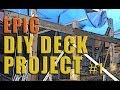 Epic DIY Deck Project -Part 1- The Plan & Dig Post Holes