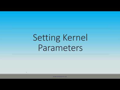 Setting kernel parameters in oracle