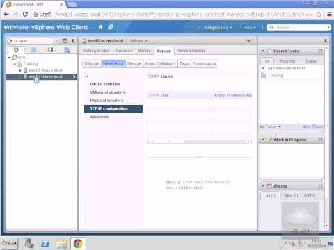 Setting DNS and Routing IPaddresses in vSphere 5.5 WebClient