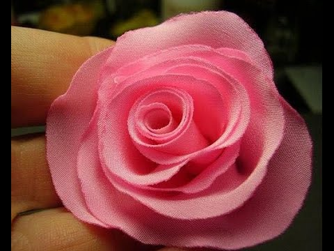 How To Make Rose Flower From Ribbon Cloth Tutorial