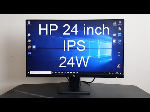 HP Monitor 24 inch Review - Hp Monitor 24w Review  IPS Display - Monitor for Gaming?
