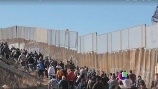 ¿Cruce de película en la frontera hacia Estados Unidos? -- Noticiero Univisión
