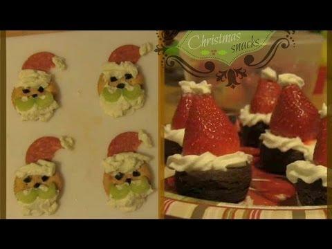 Easy Holiday Treat Recipes - Strawberry Santa Hats & Santa Crackers DIY | SoCraftastic