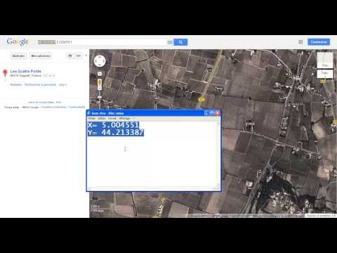 how to extract the X and Y coordinates from Google Maps