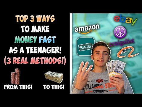 Top 3 Ways To Make Money FAST As A TEENAGER! (3 Real Methods)