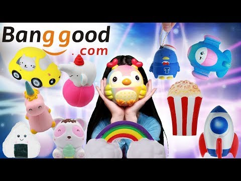 AMAZING AFFORDABLE JUMBO SQUISHY PACKAGE FROM BANGGOOD.COM AREEDY, ORICKER, SLOW RISING AND SCENTED