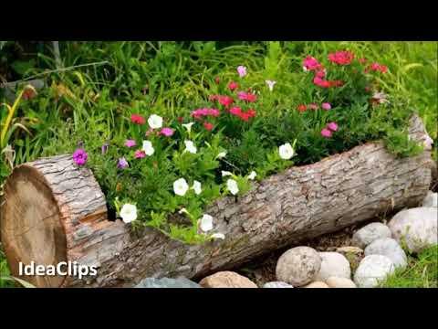 AMAZING WOOD FLOWER POTS Idea 🏘️ Creative Idea DIY pot Flower