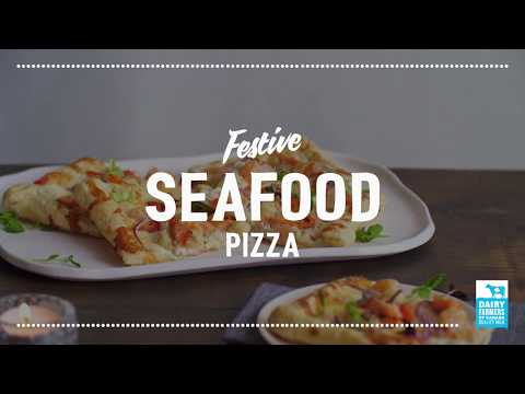 Festive Seafood Pizza   2018 Milk Calendar