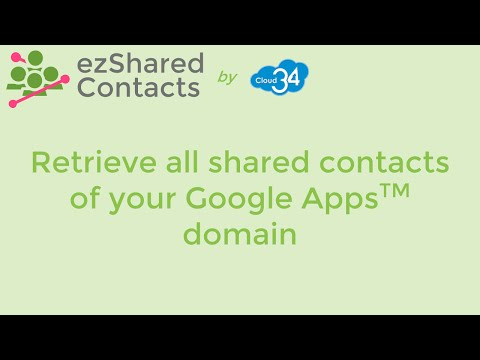 Retrieve all shared contacts of your Google Apps domain