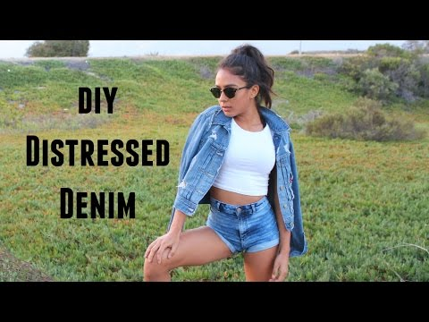 DIY: DISTRESSED DENIM JACKET | Amberly Gizelle