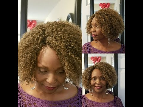Short Crochet Wig || Freetress Lace Crochet Wig Cap