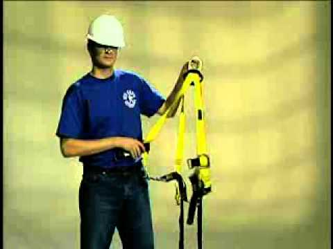 How to put on a fall protection harness by Hy-Safe Technology