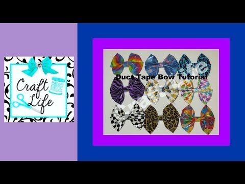 Craft Life ~ Easy Duct Tape Bow ~ Hair Bow ~ Tutorial
