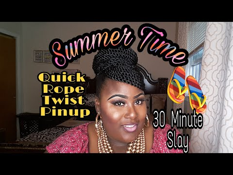 Quick(30 min) Rope Twist Pinup: Summer Styling