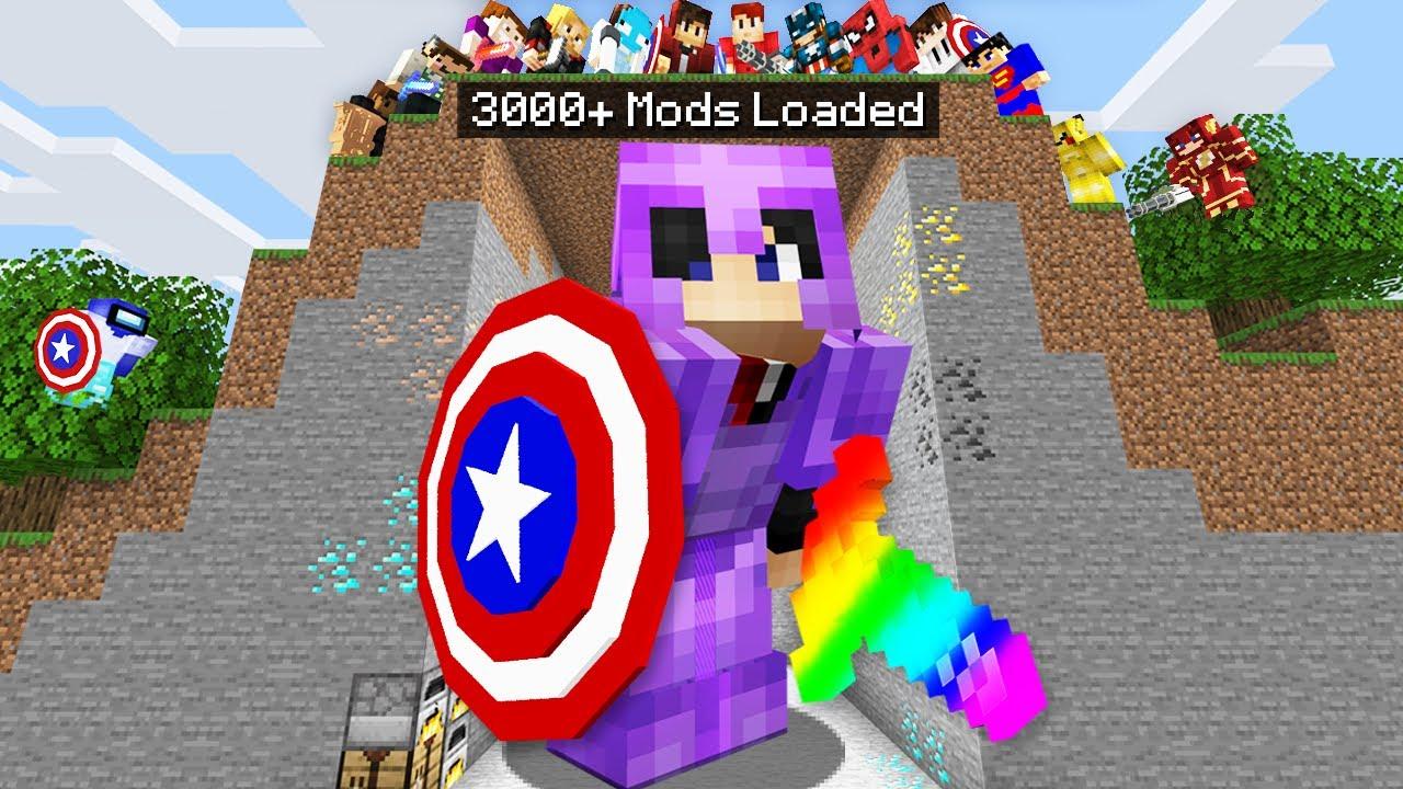 Minecraft Manhunt but i downloaded 3000+ mods..