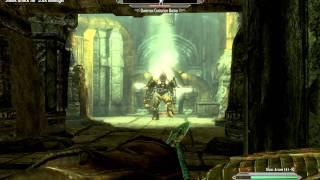 Skyrim Gameplay - Archer versus Dwarven Centurion Master and Dwarven Sphere