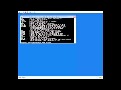 Install Windows via command line