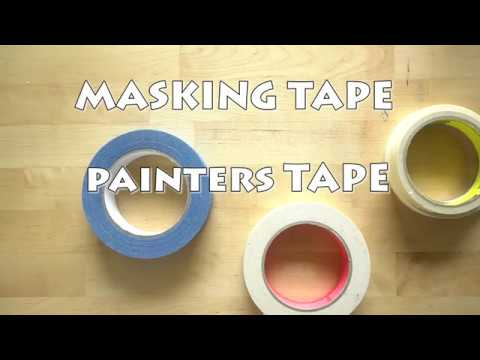 Masking Tape and Watercolor Tips