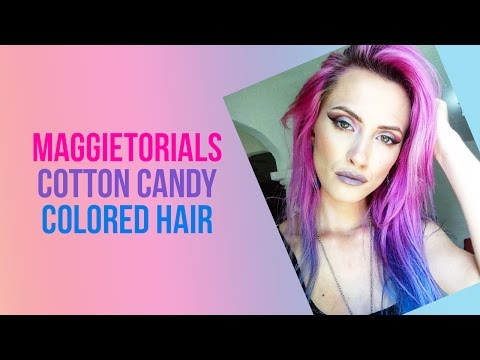 How to get Cotton candy colored hair using Arctic Fox from @maggietorials