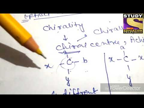 Chiral center||Optical isomerism||organic compounds