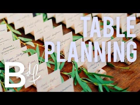 DIY Wedding: How To Create A Table Plan