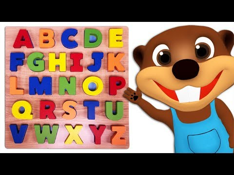 Kids Learn Colors & ABCs with Alphabet Puzzle Toy | Teach ABC Song & Colors Rhymes for Children