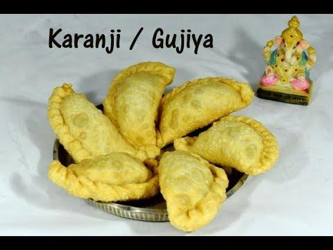 Karanji recipe | Karjikai recipe | Gujiya without mawa | Karjikayi recipe
