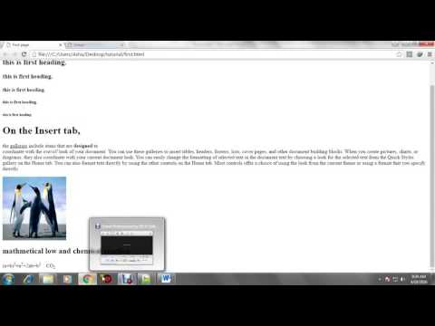 HTml tutorial 2-display image and link to another page