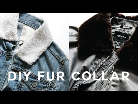 DIY Fur Jacket Collar • Clip On & Off