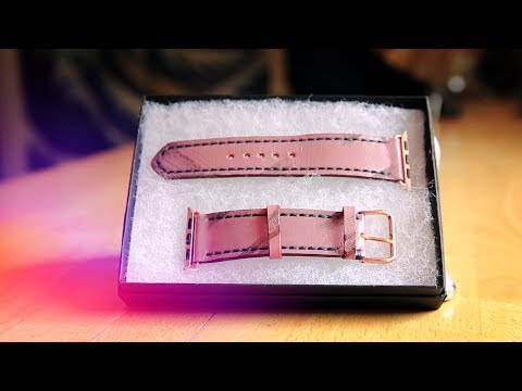 Strapley Distressed Leather Apple Watch Band Unboxing & Hands On [CoM Watch Store]