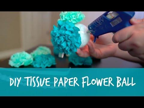 DIY Tissue Paper Flower Pomander Ball Tutorial